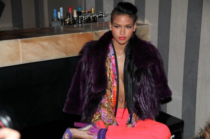 """Cassie lors de la soirée """"King of Heart"""" à Paris, le 5 mars 2012."""