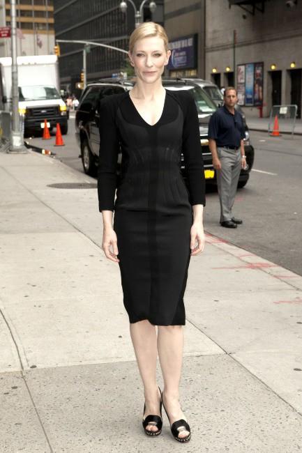 Cate Blanchett arrive au Late Show with David Letterman à New York, le 22 juillet 2013.
