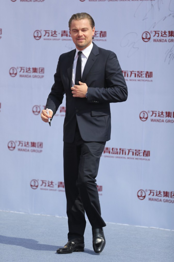 Leonardo DiCaprio lors de l'inauguration de l'Oriental Movie Metropolis Ceremony en Chine, le 22 septembre 2013.