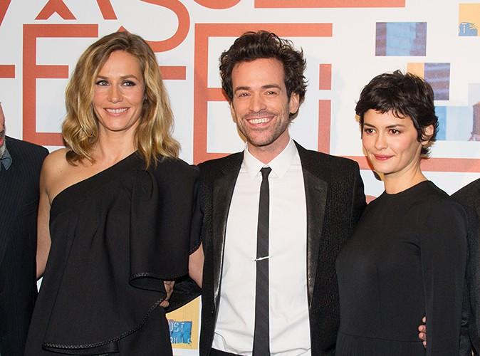 Cécile de France, Romain Duris et Audrey Tautou à Paris le 25 novembre 2013
