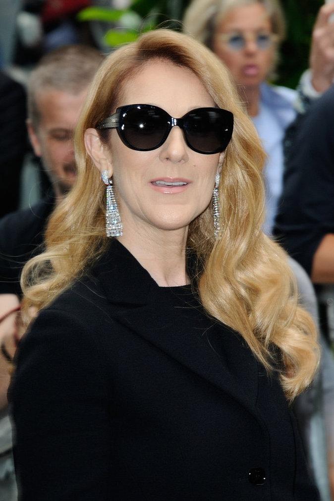 Céline Dion arrivant au défilé Christian Dior pendant la Fashion Week Haute Couture le 4 Juin 2016 à Paris