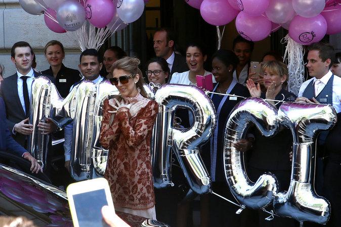 Céline Dion le 9 juillet à Paris