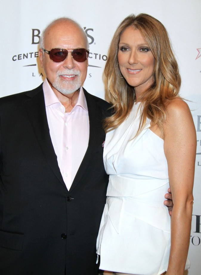 Céline Dion et René Angélil à la première du spectacle Veronic Voices à Las Vegas le 29 juin 2013
