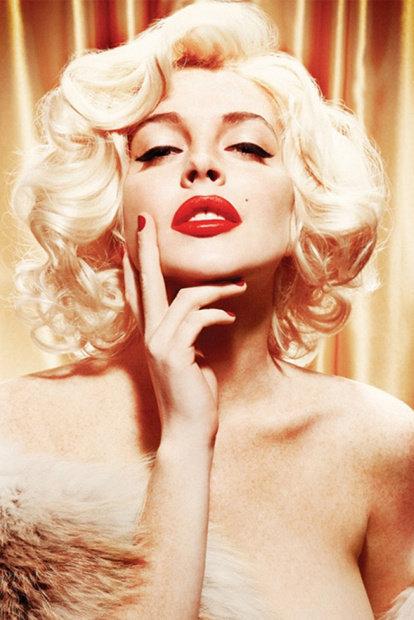 Lindsay Lohan en Marilyn Monroe