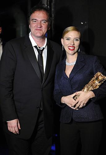 Quentin Tarantino et Scarlett Johansson à Paris le 28 février 2014