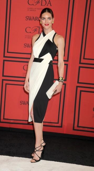 Hilary Rhoda lors de la soirée des CFDA Fashion Awards à New York, le 3 juin 2013.