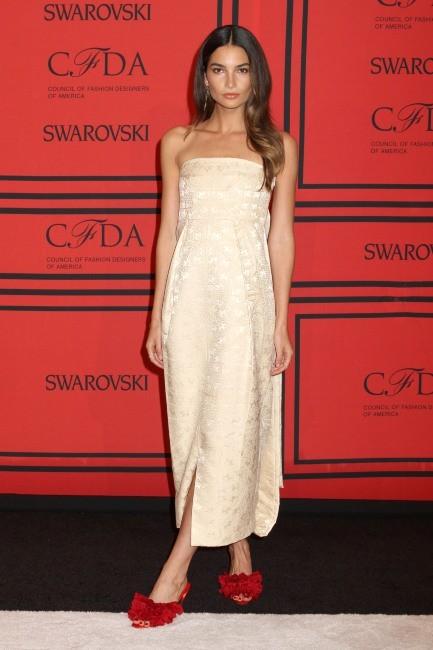 Lily Aldridge lors de la soirée des CFDA Fashion Awards à New York, le 3 juin 2013.