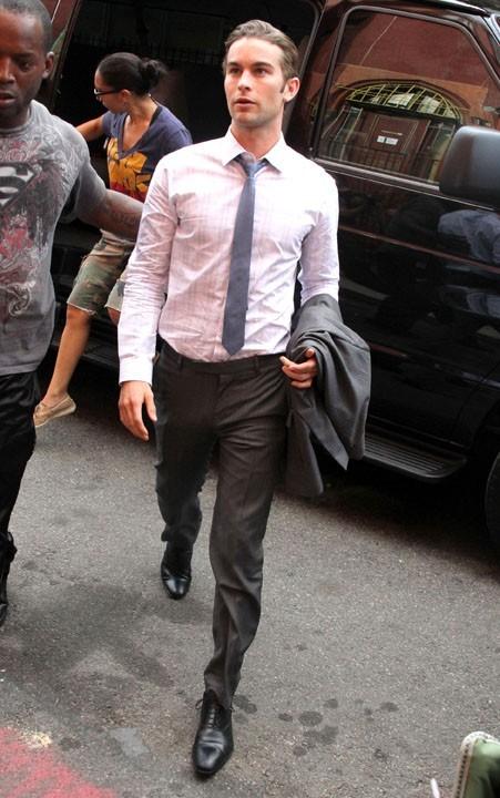 Chace Crawford sur le tournage de Gossip Girl, le 27 juillet 2011.