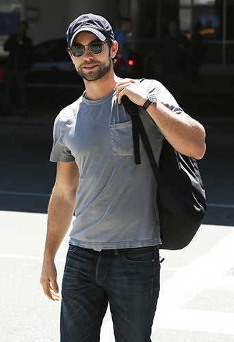 Chace Crawford à l'aéroport de Los Angeles le 23 août 2013