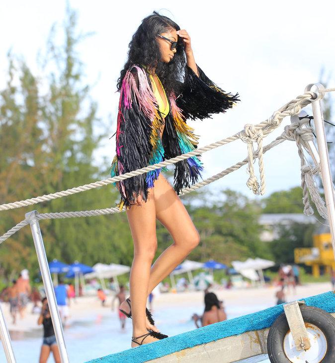 Chanel Iman à La Barbade le 2 août 2016