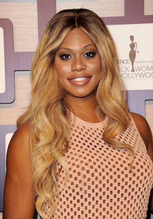 Laverne Cox lors de la cérémonie des Black Women in Hollywood, le 19 février 2015 !