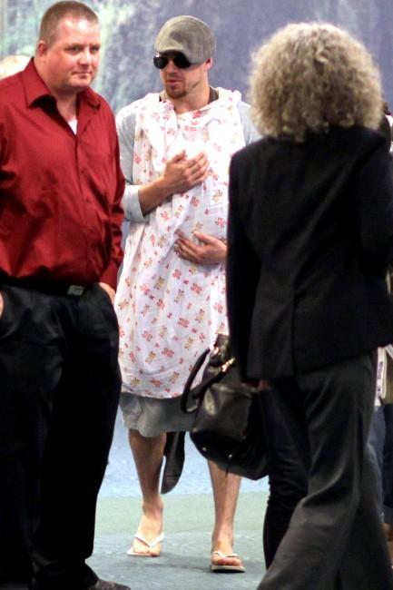 Channing Tatum et sa fille Everly à l'aéroport de Los Angeles, le 7 juillet 2013.