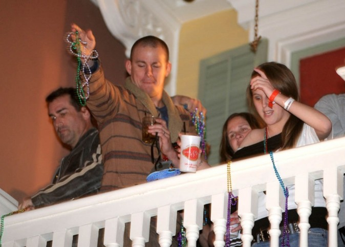 Channing Tatum s'éclate et picole à la Nouvelle-Orléans !