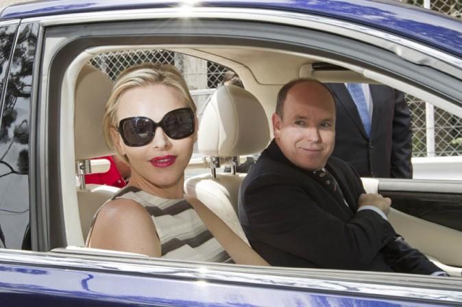 Charlene et Albert de Monaco sur le Grand Prix de Monaco