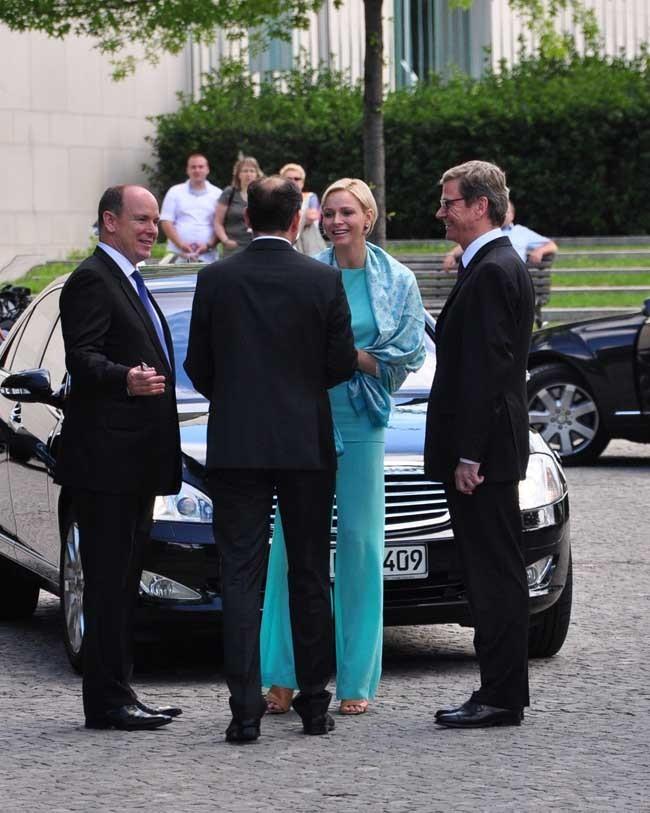 Charlene de Monaco le 9 juillet 2012 à Berlin