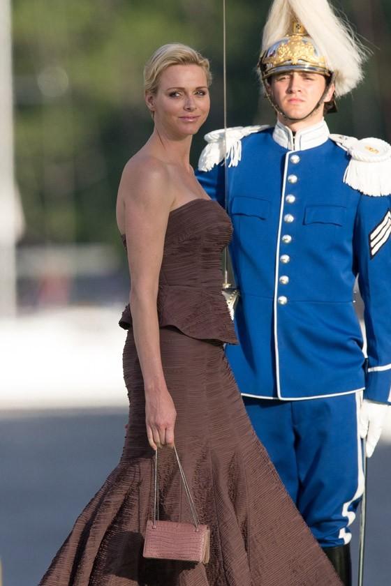 Charlene de Monaco au mariage de la princesse Madeleine de Suède à Stockholm le 8 juin 2013