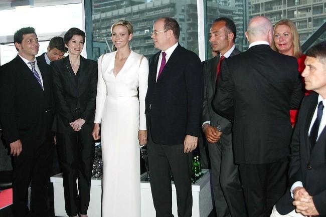 Albert et Charlene de Monaco le 10 mai 2013 à Monaco