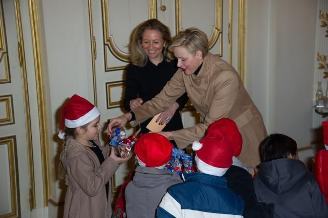 Charlene et Albert de Monaco, Monaco, 12 décembre 2012.