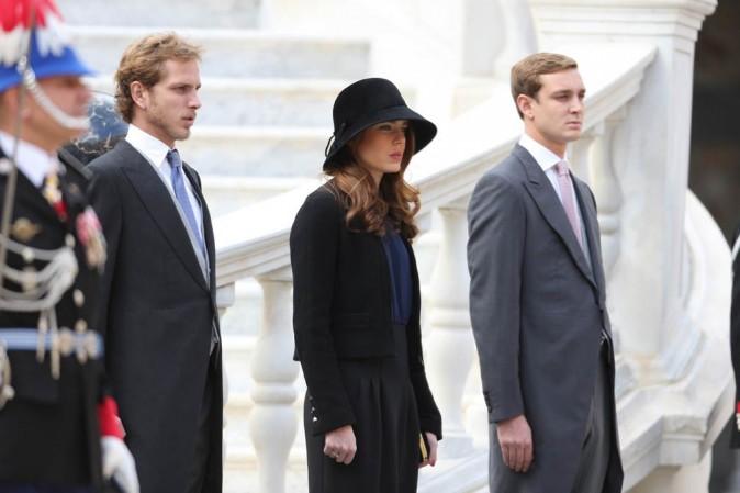 Andrea, Charlotte et Pierre Casiraghi pour la fête nationale monégasque le 18 novembre 2012