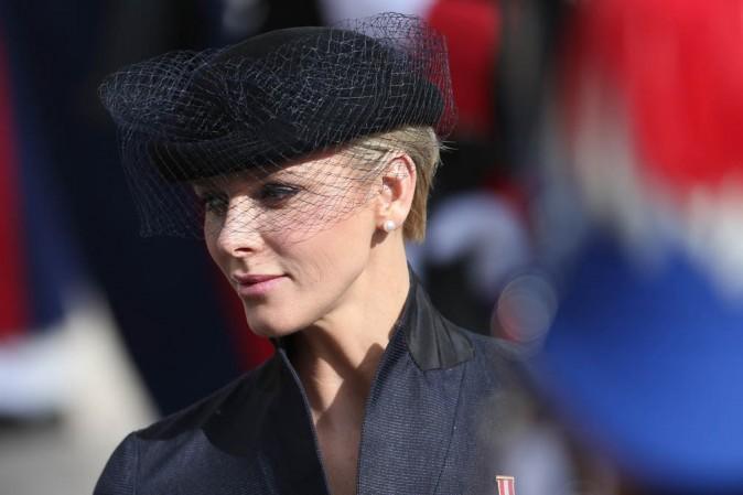 Charlène de Monaco célèbre la fête nationale monégasque le 18 novembre 2012