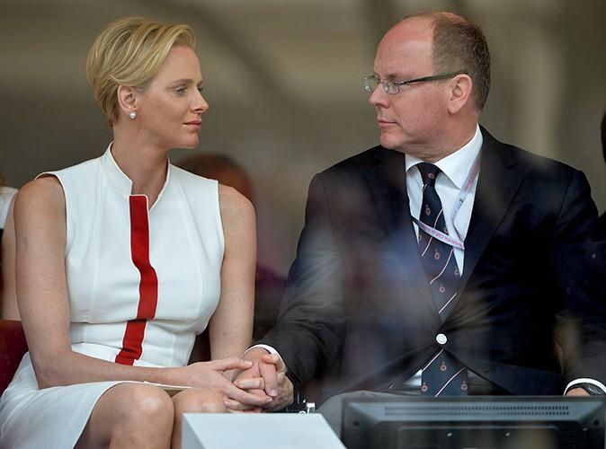 Charlène Wittstock et le Prince Albert à Monaco le 25 mai 2014