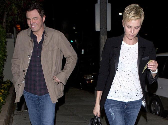 Charlize Theron et Seth MacFarlane à Beverly Hills le 8 avril 2013