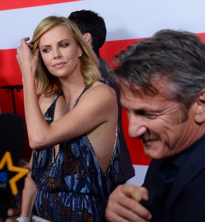 Sean Penn et Charlize Theron le 12 mars 2015