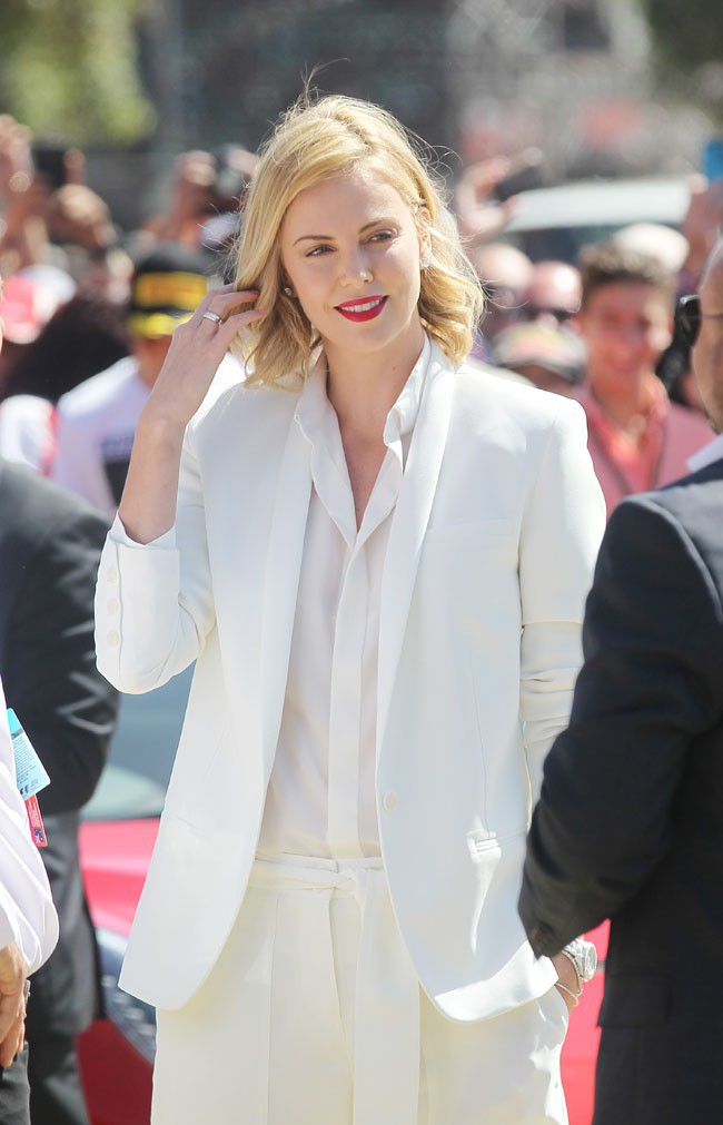 Charlize Theron à Melbourne le 15 mars 2015