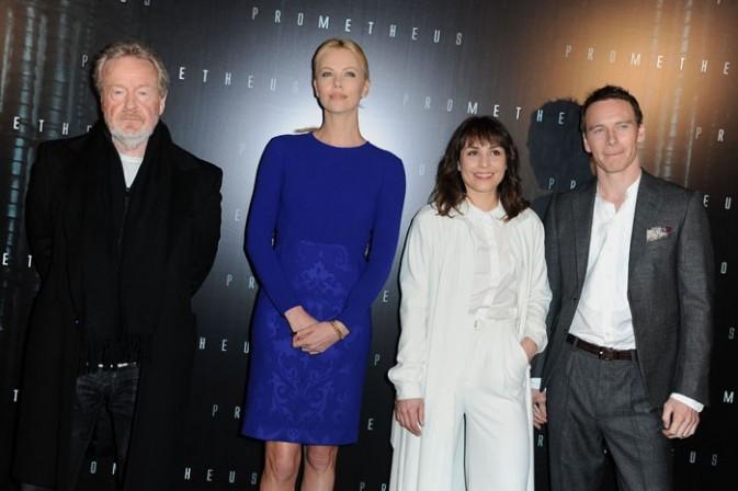 Aux côtés du réalisateur Ridley Scott et des acteurs Noomi Rapace et Michael Fassbender