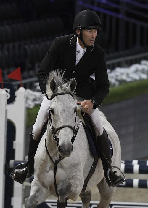 Nicolas Canteloup au Gucci Paris Masters, le 4 décembre 2014