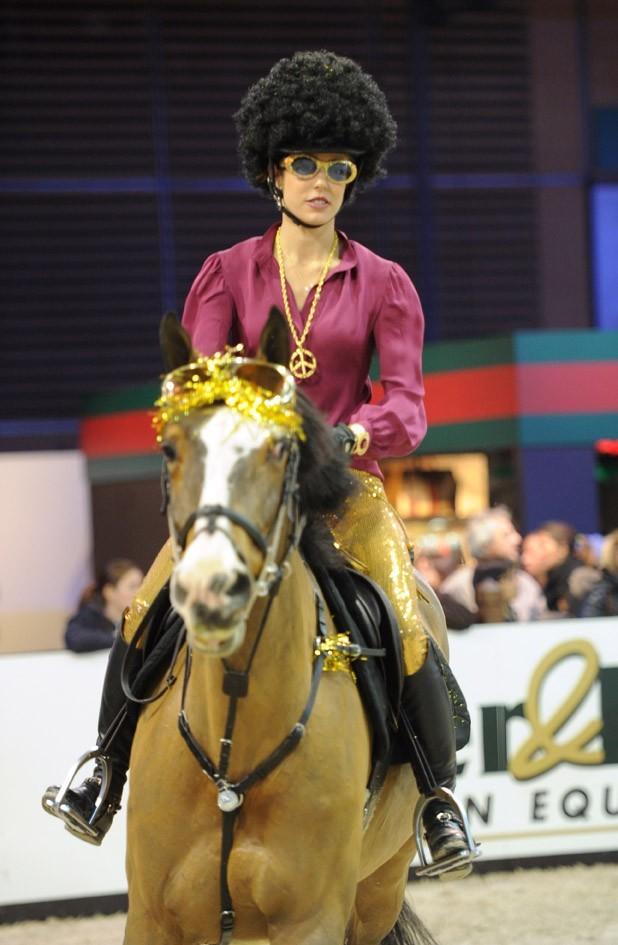 La cavalière émérite a récolté 120 000 euros au profit de l'Amade hier !
