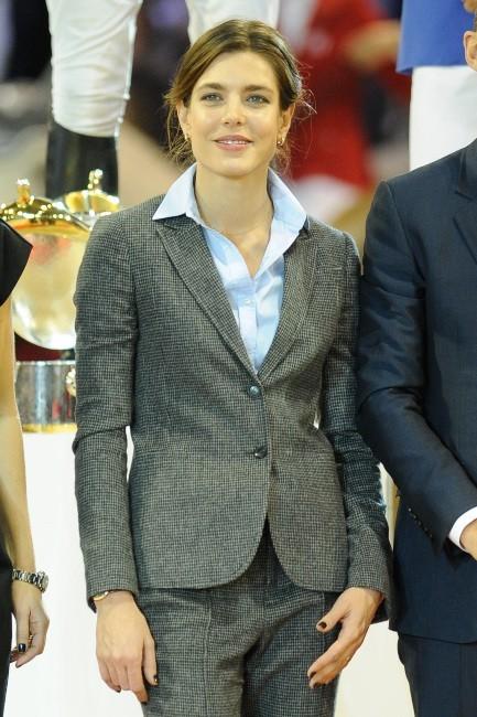 Charlotte Casiraghi lors du Grand Prix Gucci Masters 2012 à Villepinte, le 2 décembre 2012.