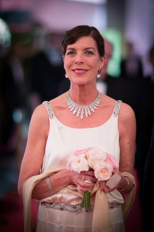 Caroline de Monaco au 61ème Bal de la Rose à Monaco, le 28 mars 2015 !
