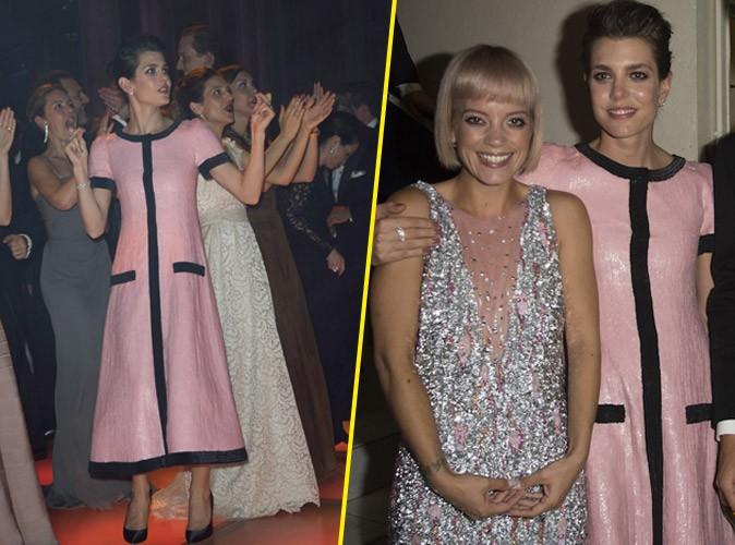 Photos : Charlotte Casiraghi s'éclate au Bal de la Rose avec Lily Allen mais sans Gad !