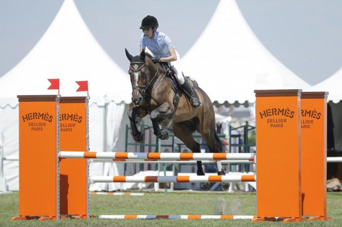 Charlotte Casiraghi au Jumping de Chantilly le 25 juillet 2014
