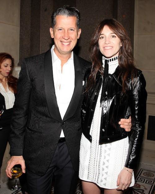 Charlotte Gainsbourg et Stefano Tonchi, le rédacteur en chef de W Magazine à New York, le 3 novembre 2014 !