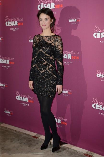 Charlotte Le Bon lors du dîner des pré-nommés aux César des meilleurs espoirs masculins et féminins 2014 à Paris, le 13 janvier 2014.