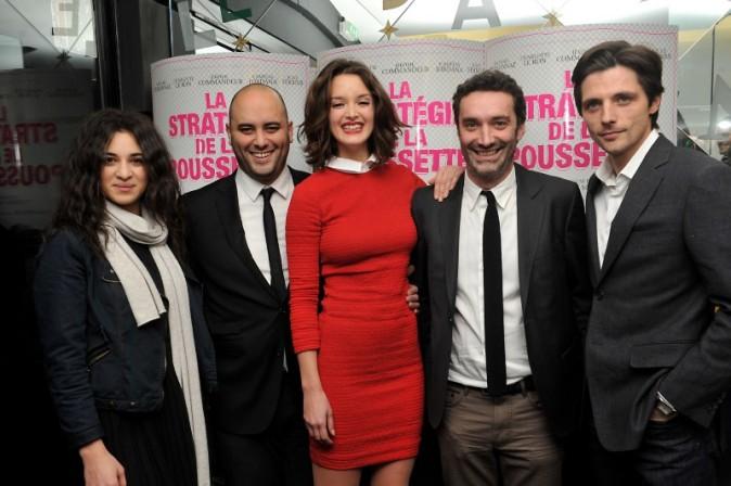 Charlotte Le Bon et l'équipe du film le 18 décembre 2012 à Paris