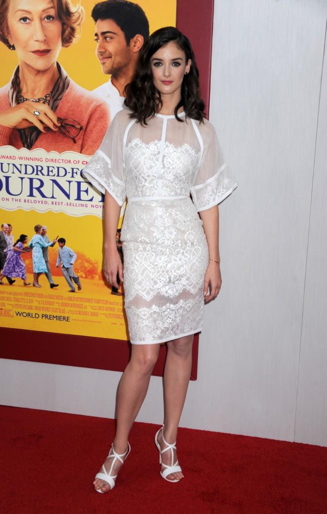Charlotte Le Bon à l'avant-première New Yorkaise de The Hundred-Foot Journey le 4 août 2014