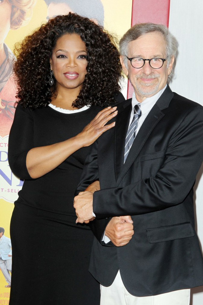 Steven Spielberg et Oprah Winfrey à l'avant-première New Yorkaise de The Hundred-Foot Journey le 4 août 2014