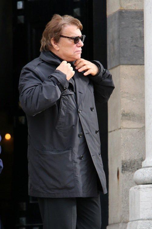 Bernard Tapie aux obsèques de Jean-Noël Tassez à Paris, le 9 octobre 2015