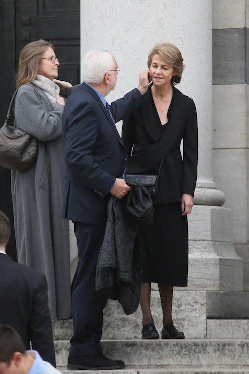 Charlotte Rampling aux obsèques de Jean-Noël Tassez à Paris, le 9 octobre 2015