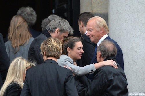 Emily Jarre aux obsèques de Jean-Noël Tassez à Paris, le 9 octobre 2015