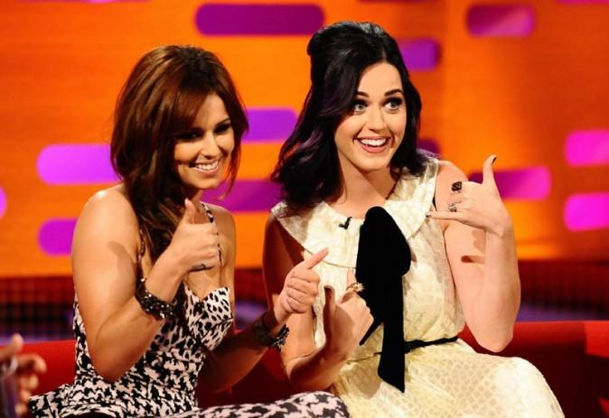 Cheryl Cole et Katy Perry sur le plateau du The Graham Norton Show le 7 juin 2012