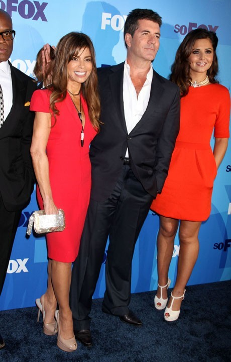 Paula Abdul, Simon Cowell et Cheryl Cole lors de la soirée 2011 Fox Upfront à New York, le 16 mai 2011.