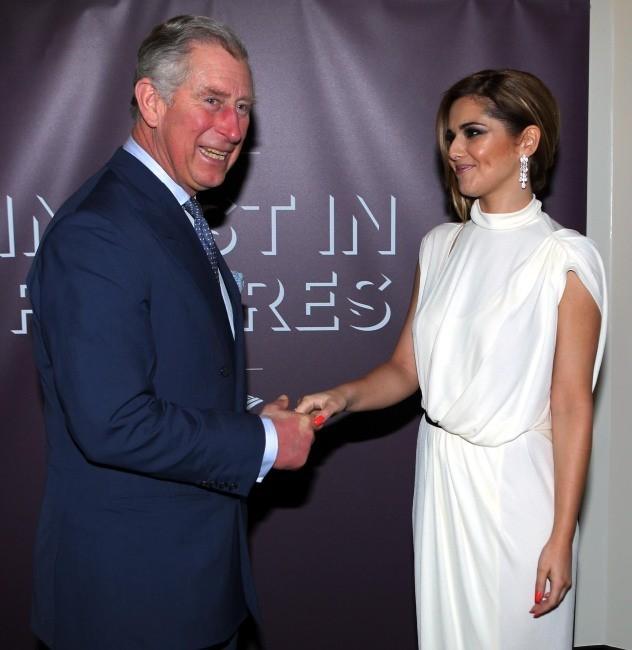 Le prince Charles et Cheryl Cole lors du dîner Prince's Trust Invest In Futures à Londres, le 23 février 2012.