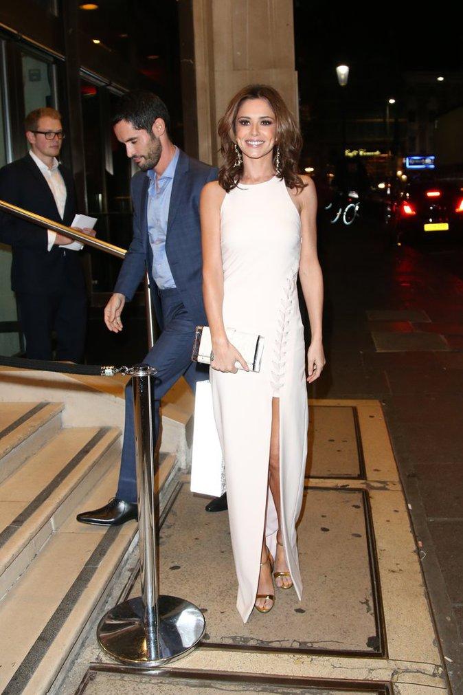 Cheryl Fernandez Versini et son mari à Londres le 15 octobre 2015