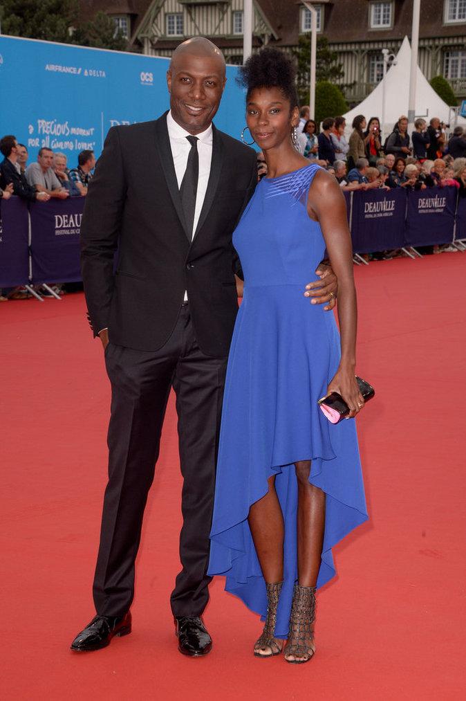 Harry Roselmack et sa femme au 42e Festival du film de Deauville