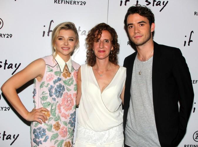 Cholë Moretz, Jamie Blackley et Gayle Forman à New York le 18 août 2014