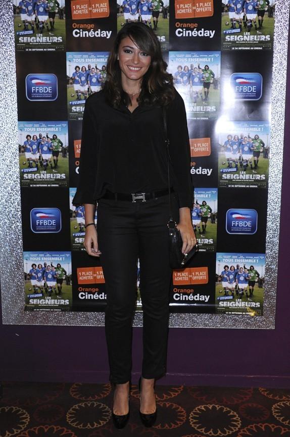 Rachel Legrain-Trapani à l'avant-première des Seigneurs à Paris le 25 septembre 2012